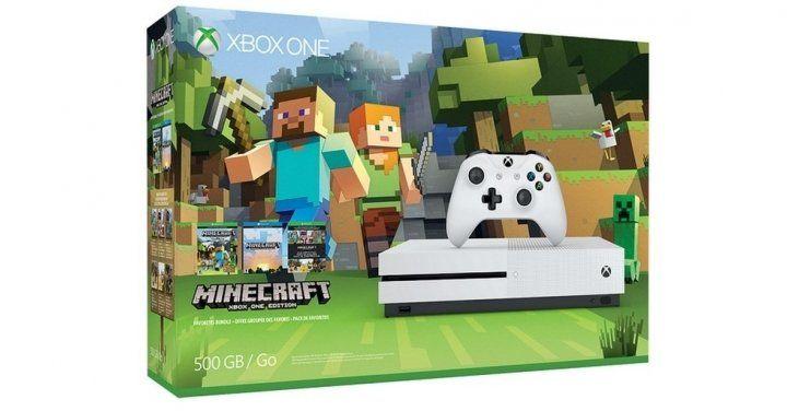 Xbox One S Minecraft Bundle  2 Free Games $379.99 @ Microsoft Canada http://www.lavahotdeals.com/ca/cheap/xbox-minecraft-bundle-2-free-games-379-99/136087