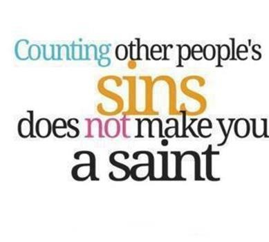 Or counting others' faults. We all have them. I will look inward and take care of what I have control over.