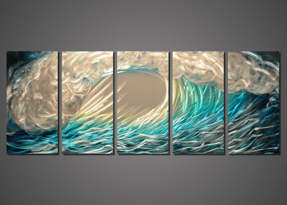 Excellent Famous Wave Abstract Wall Art Collection - Wall Painting Ideas  TF09