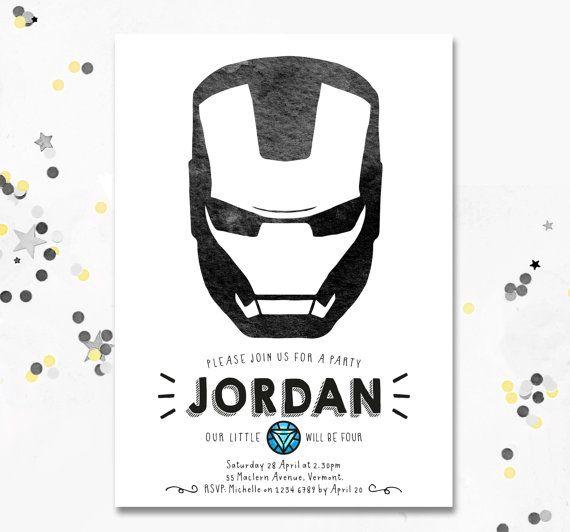 Ironman Ironman Birthday Party Ironman Invite Avengers