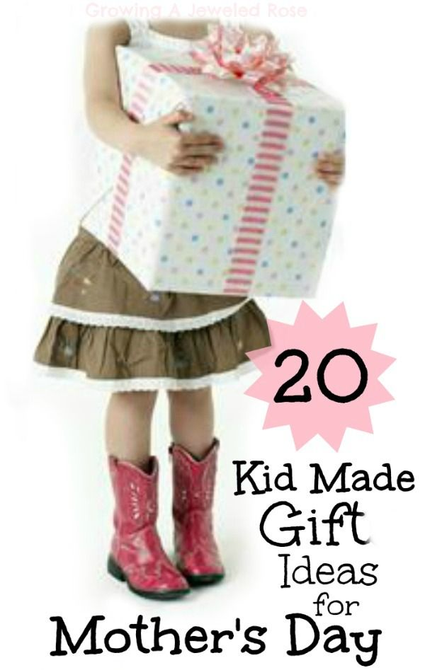Nothing beats a kid made gift for Mother's Day.  Here are 20 moms are sure to LOVE!