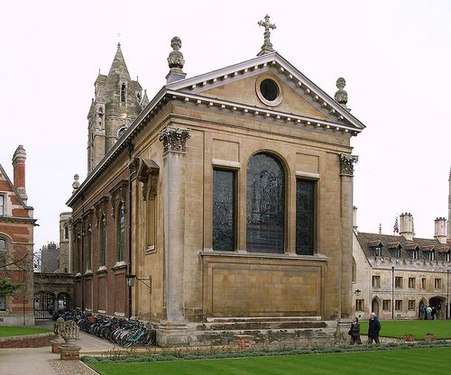 The Chapel, Pembroke College Cambridge designed in 1663 by Christopher Wren