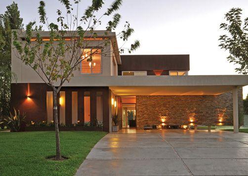 Las 25 mejores ideas sobre fachadas de casas modernas en - Construcciones de casas modernas ...
