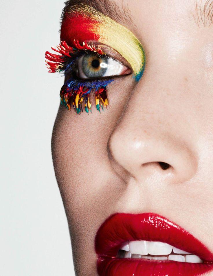 """Couleurs Primaires"" Arizona Muse by Ben Hassett for Vogue Paris May 2016. Stylist: Géraldine Saglio Hair: Rudi Lewis Makeup: Karim Rahman Nails: Charlene Coquard"