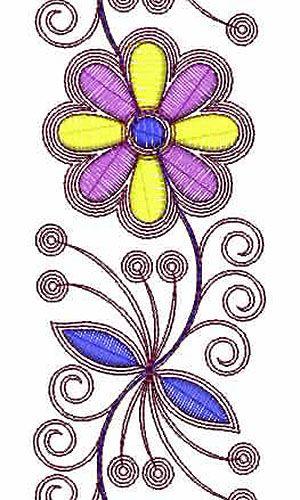 Designer Cording Embroidery Design