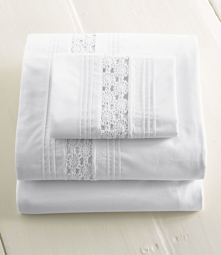Heirloom Crocheted Sheet Set
