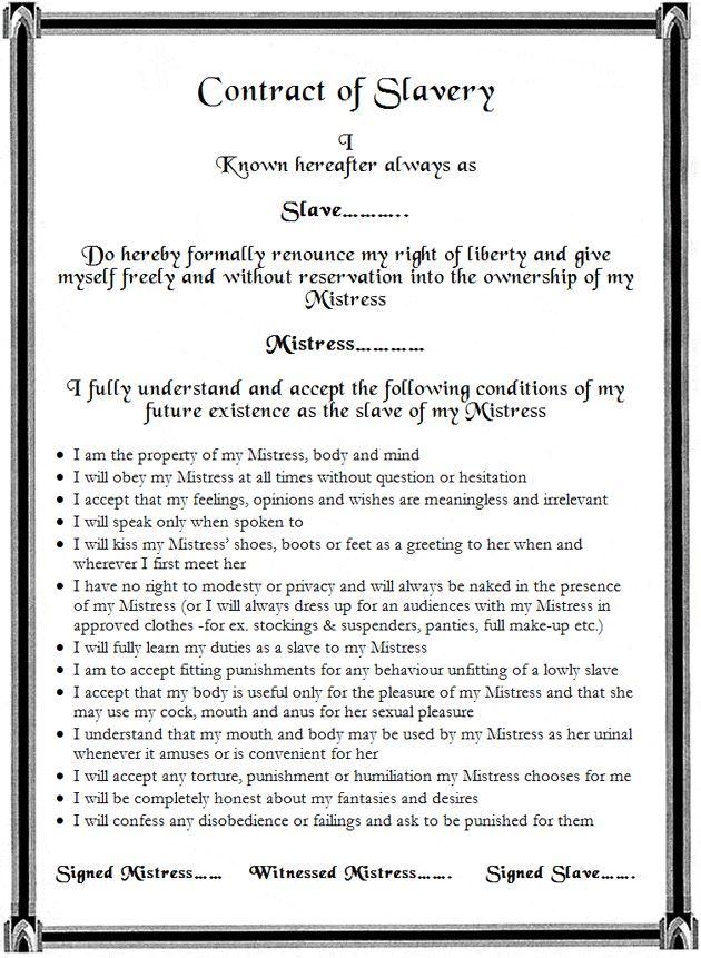 Contract-Of-Slavery-Blog-New  Kink  Mistress, Blog-5646