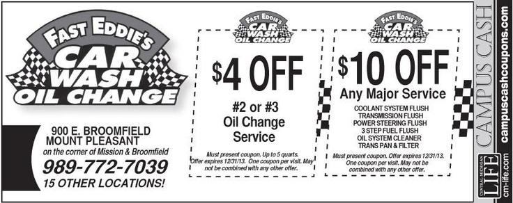fast eddies coupons Oil change, Oil wash, Car oil change