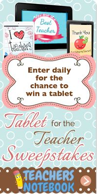 Win a tablet from Teachers Notebook! Enter daily until Jan. 31