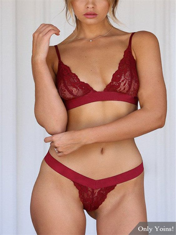 f90a9c402 Sexy  Lace  Lingeries Set in  Burgundy