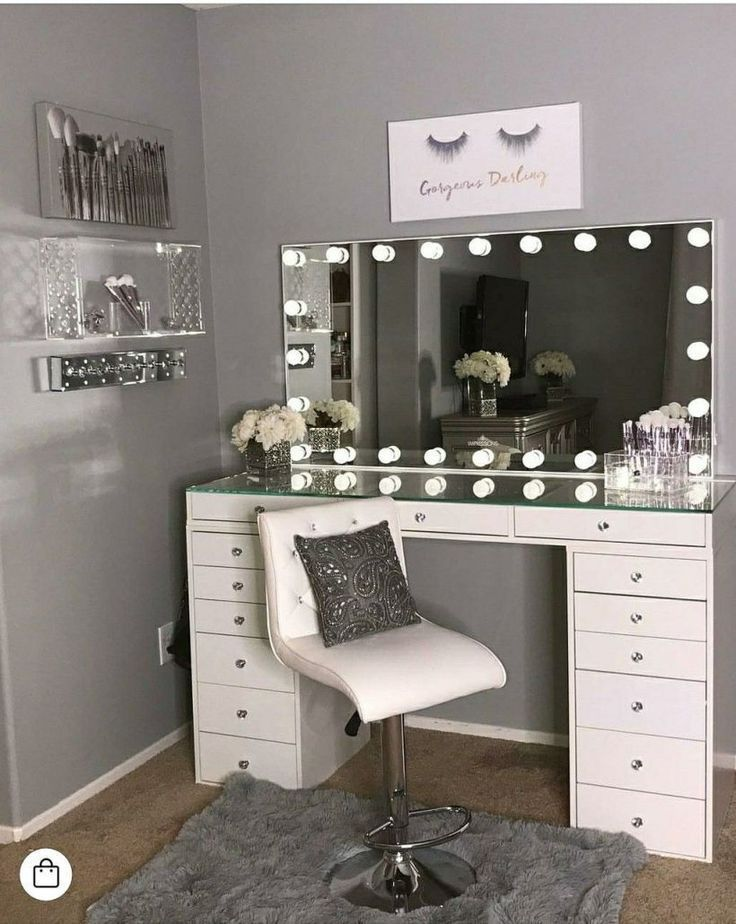 40 Kreative DIY Make-up Vanity Design-Ideen, die begeistern   – Spare room – #begeistern #DesignIdeen #die #DIY #kreative