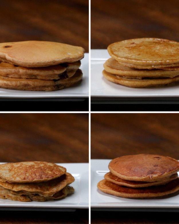 Banana Pancakes 2 large, ripe bananas 2 eggs 1 teaspoon vanilla extract 1 teaspoon cinnamon
