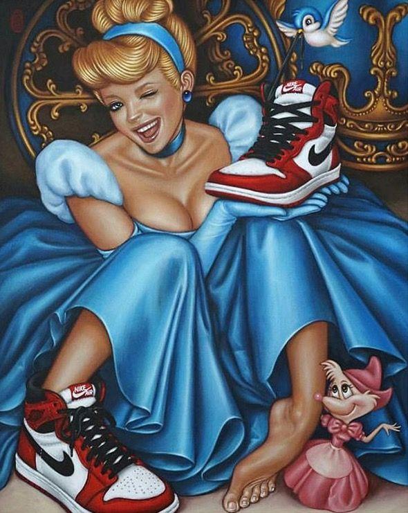 Cinderella rocking Jordan 1s