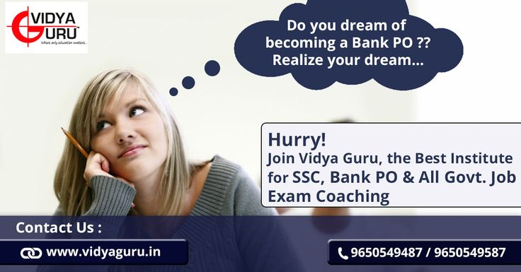 ‪#‎bankpocoachingindelhi‬ ‪#‎bankpocoaching‬  Want to become a ‪#‎BankPO‬ !! Realize your dream with ‪#‎VidyaGuru‬...  Call: 9650549487 or Visit: http://www.vidyaguru.in/