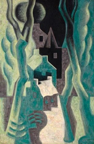1920-1921 Paysage by Jean Metzinger
