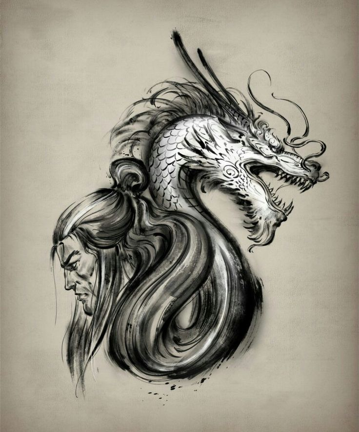 686 best v lltetov l s images on pinterest tatoos arm for Dragon and samurai tattoo meaning