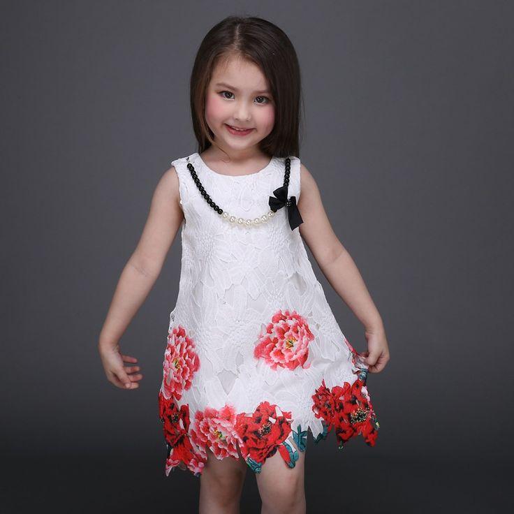 $24.99 (Buy here: https://alitems.com/g/1e8d114494ebda23ff8b16525dc3e8/?i=5&ulp=https%3A%2F%2Fwww.aliexpress.com%2Fitem%2FGirls-Lace-Dress-with-Flower-Beading-2016-Sleeveless-Party-Dresses-Girls-Knee-Length-Dresses-Vintage-Girls%2F32597754513.html ) Girls Lace Dress with Flower & Beading 2016 Sleeveless Party Dresses Girls' Knee Length Dresses Vintage Girls Vest Dress Vestido for just $24.99