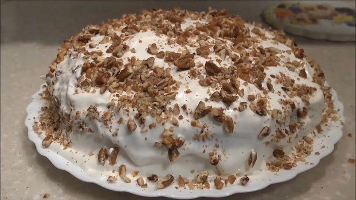 Сметанный торт с орехами: просто тает во рту
