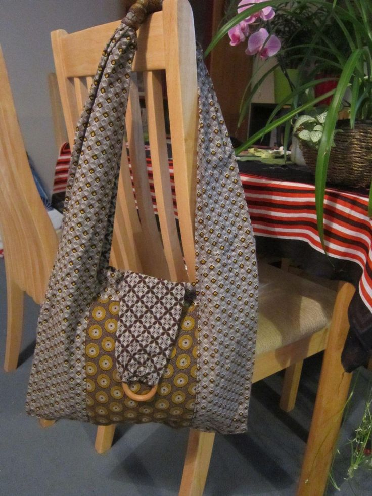 German print womens hand bag