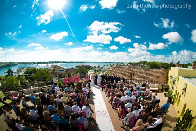 Dream wedding venue the white room st Augustine Florida a rooftop ceremony