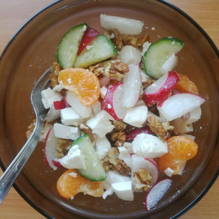 Mediterranean salad with an exotic twist