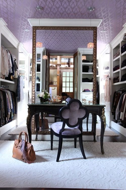 Beautiful lavender touches to a closet