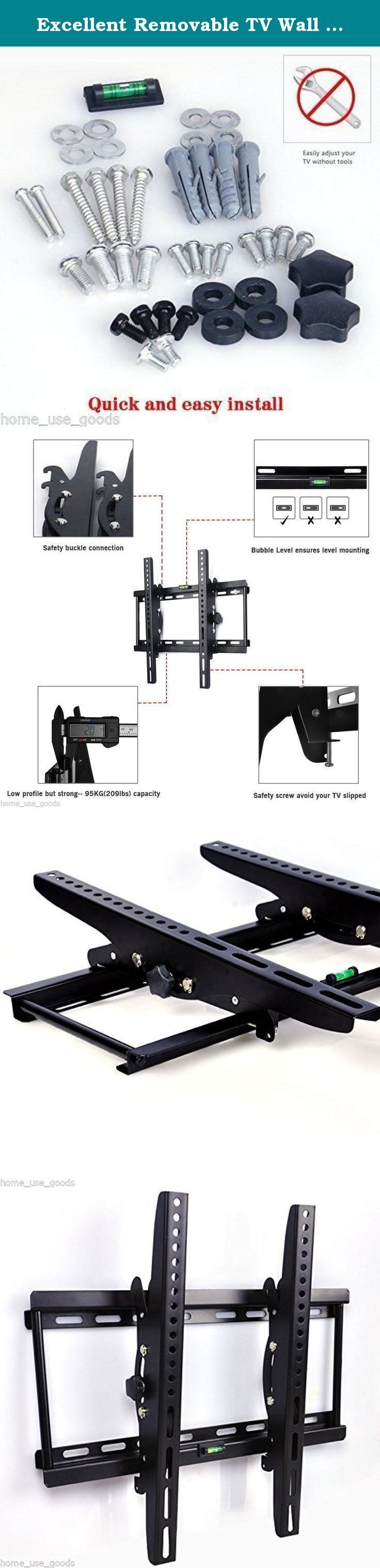 Excellent Removable TV Wall Bracket for 26-55 Inch LED LCD Plasma Flat TVs Super Strong 60KG Weight Capacity Max VESA 400X400mm. Specifications: Condition: Brand new TV Size:26-55 inch Compatible VESA Dimensions:75*75mm 100* 100mm 200*200mm 400*400mm Max VESA :400*400mm Load Capacity: 60kg (132 lbs) Mobile bar size: L 43cm , W 22cm Features: Extendable bracket TV Wall Bracket for inch LCD, LED & Plasma TV Save space,and provide different perspective for watching TV Use in bedroom, living...