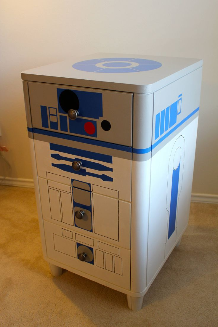 """R2-D2 Dresser - Album on Imgur  it needs to have an audio track play """"help me obi-wan"""" whenever you open a drawer!"""