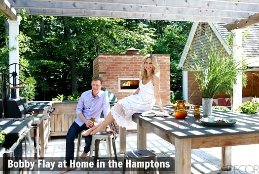 Celeb Homes: Bobby Flay's House in the HamptonsCelebrity chef Bobby Flay and his wife, actress Stephanie March, opened their Hamptons home to Elle Decor magazine recently. They created a lot of great outdoor...