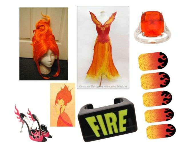 """""""FLAME PRINCESS!!!( adventure time #3)"""" by pugshugs on Polyvore featuring Kenzo and Prada"""