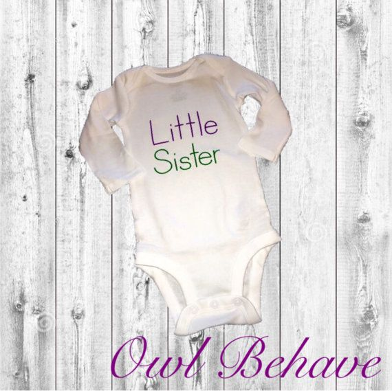 Little Sister Bodysuit l New Sibling shirt l Little by OwlBehave