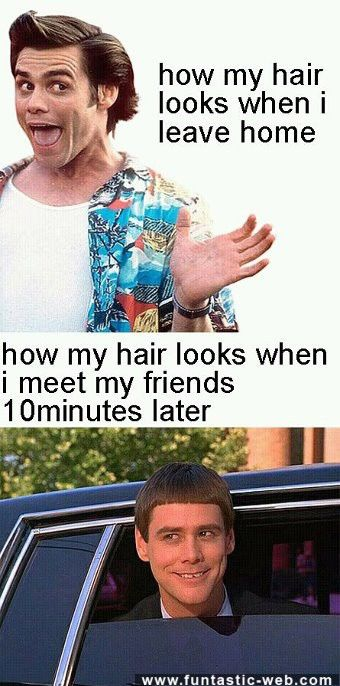 How my hair looks when I leave homeFunny Pictures, Hair Problems, So True, Funny Stuff, Jim Carey, Jim Carrey, So Funny, Hair Looks, True Stories
