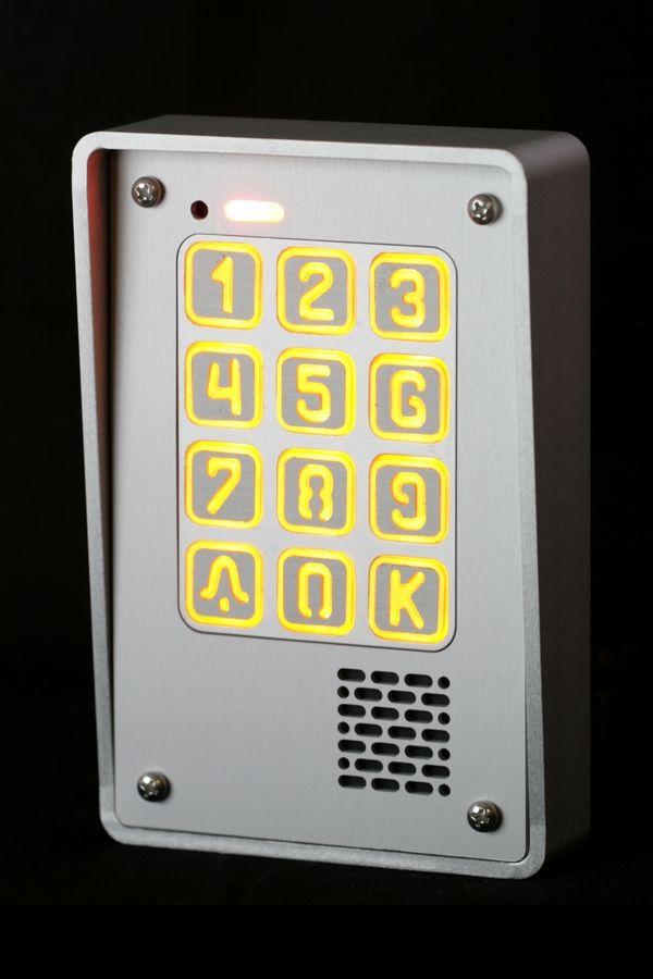 Cyfrowy #domofon jednorodzinny z podświetlaną klawiaturą.