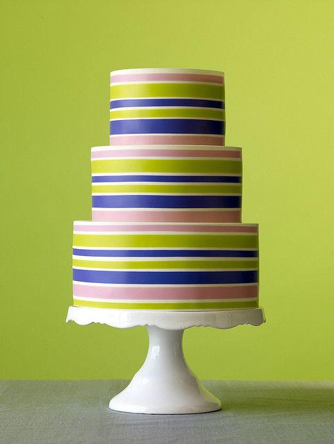 Cake by Baking Arts: Stripes Cakes, Cakes Ideas, Stripes Wedding, Weddings, Striped Wedding, Colors, Cakes Decor, Wedding Cakes, Strips