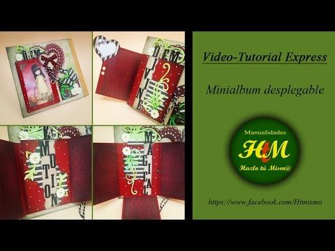 Minialbum desplegable Gorjuss (Tutorial Express) - YouTube
