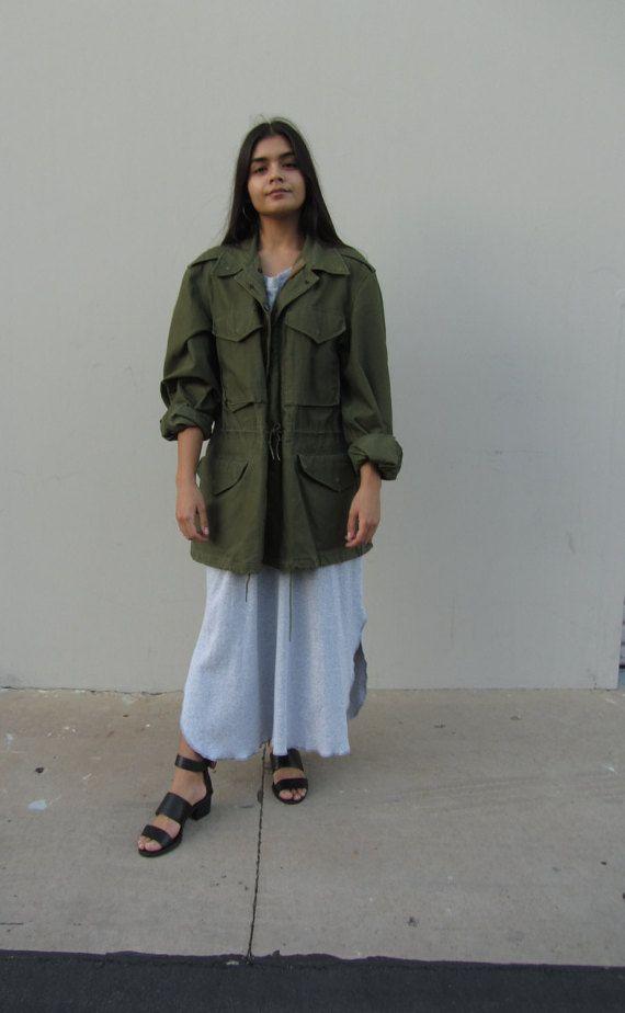 Vintage army jacket Military field jacket by HotCocoaVintage