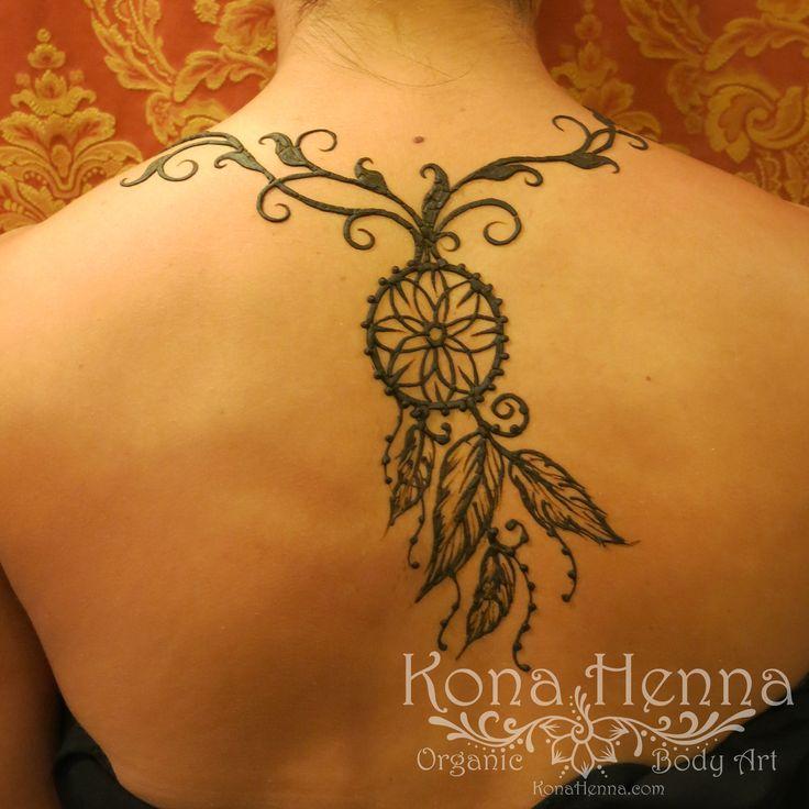 Organic Henna Products.  Professional Henna Studio. KonaHenna.com  #back #dreamcatcher #feathers
