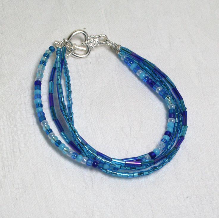 Blue 5 strand bracelet  www.facebook.com/Supposejewellery