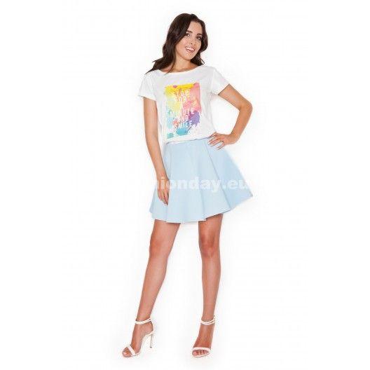 Dámske tričká s krátkym rukávom v bielej farbe s nápisom smile - fashionday.eu