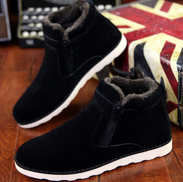 Special price High Quality 2016 New Fashion Men's Winter Boots shoes for Men Warm With Fur Snow Boots For Male Hot Sale Plus Free Shipping just only $24.50 - 26.50 with free shipping worldwide  #menshoes Plese click on picture to see our special price for you