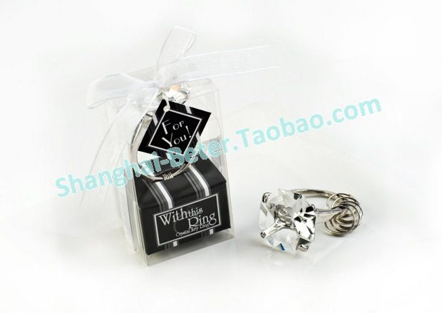 """""""With This Ring""""Crystal Ring Keychain    #weddingideas #partyinspirations #partysupplies #bridalshower"""