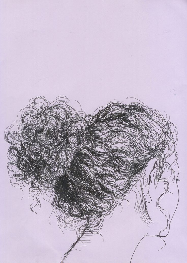 Line Drawing Hair : Best drawings of hair ideas on pinterest drawing