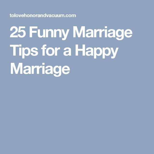 Fun, Quick Marriage Tips!