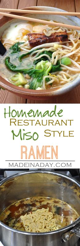 Easy Semi-Homemade Restaurant Style Miso Ramen recipe, use rotisserie chicken and frozen veggies and a Lotus Rice Noodles Miso Ramen mix to create an endless variety of soups!
