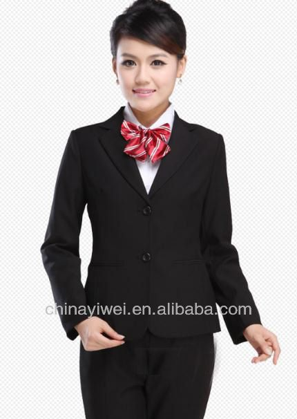 Custom hotel receptionist uniform for front desk staff