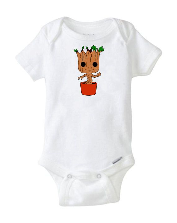 Groot Guardians for the Galaxy Cool Baby Shower Gift Cute Funny Awesome Baby Gift Boy Girl Neutral Space NASA nerdy geeky baby smart