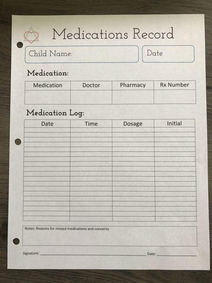 Best  Medication Log Ideas On   Medication List