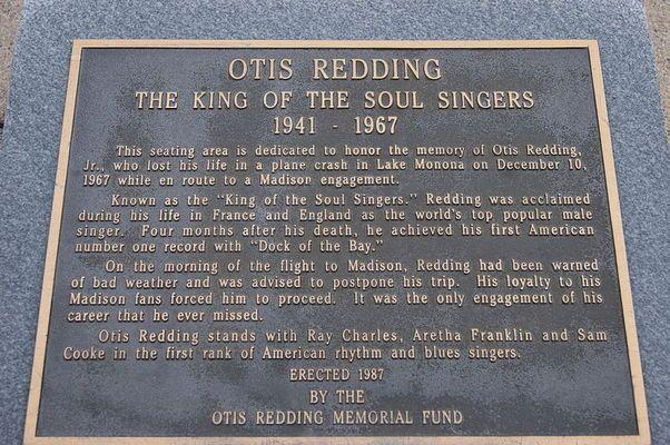 Otis Redding Memorial Plaque   Atlas Obscura