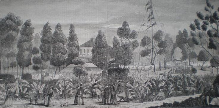 early image of the pleasure grounds