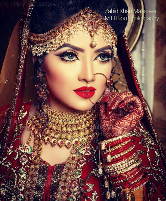 stunning bridal makeover  by zahid khan,  Bangladesh